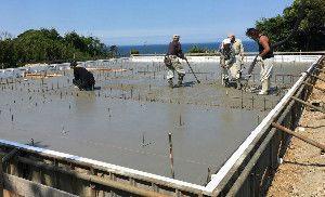 地熱利用基礎の工事写真